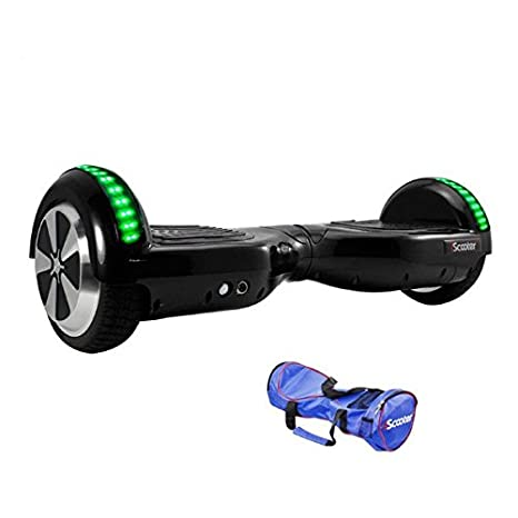 Amazon.com: Negro Hoverboard LED Self Balancing 6.5 inch ...