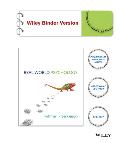 Real World Psychology Binder Ready Version   Wileyplus Registration Card