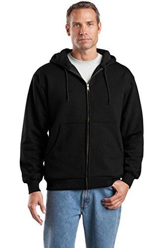 Cornerstone Men's Heavyweight Full Zip Hooded Sweatshirt with Thermal 3XL Black
