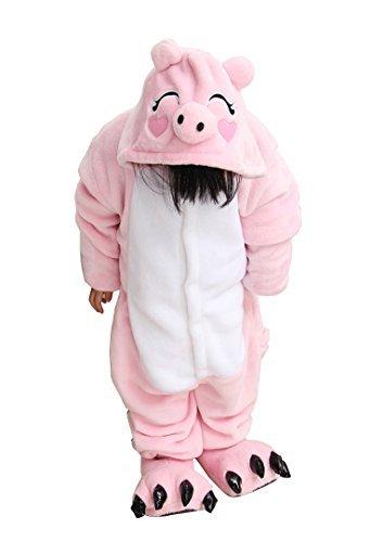 [Tonwhar Children's Halloween Costumes Kids Kigurumi Onesie Animal Cosplay (115(height:49.2