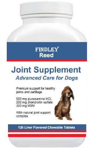 Findley Reed Joint Supplement for Dogs - Glucosamine, Chondroitin & MSM 120 Tabs
