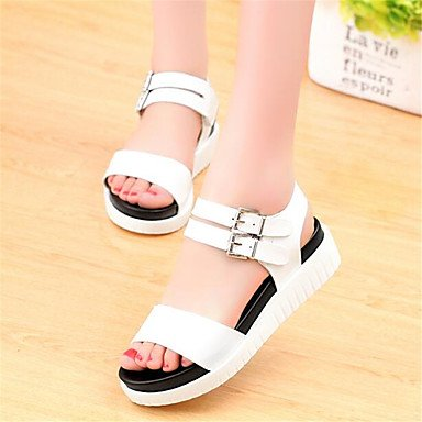 Sneakers EU39 5 Comfort CN40 Flat Women'S RTRY White Spring Casual UK6 Comfort Pu 5 Canvas US8 qRaS5x