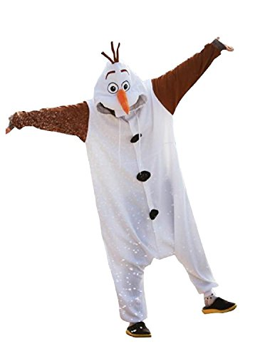 d64ee2bce48b Amazon.com  Disney Frozen Olaf Character -Adult Costumes Pajama Onesies (  Small)  Clothing