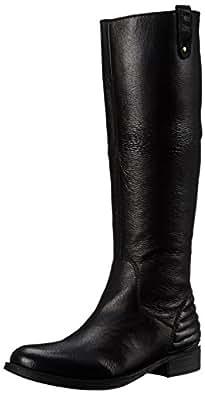 Steve Madden Women's Arries Winter Boot, Black Leather, 6.5 M US