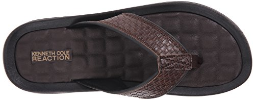 Kenneth Cole Reaktions Mens Gå Fyra-th Platt Sandal Brun