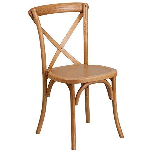 - Flash Furniture HERCULES Series Stackable Oak Wood Cross Back Chair