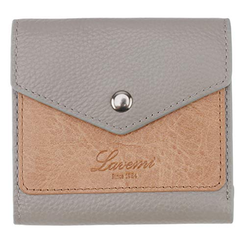 Lavemi RFID Blocking Small Compact Mini Bifold Credit Card Holder Leather Pocket Wallets for Women with Quick access ID Slot(1-Envelope Gray)