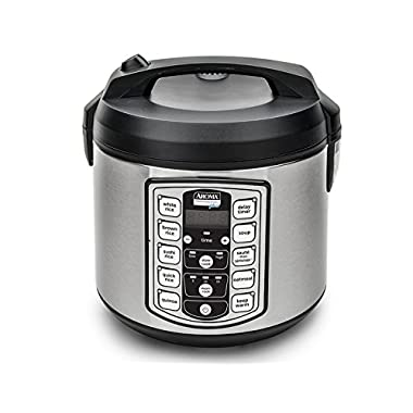 Aroma Professional Plus ARC-5000SB 20 Cup (Cooked) Digital Rice Cooker, Food Steamer, Slow Cooker, Stainless Exterior/Nonstick Pot