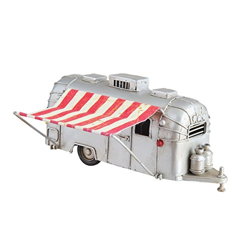 Metal Vintage Camper made our list of the most unique camping Christmas tree ornaments to decorate your RV trailer Christmas tree with whimsical camping themed Christmas ornaments!