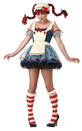 Rag Doll Halloween Costume For Adult Sexy Ladies / Womens By California (Plus Size Sexy Captain Swashbuckler Costumes)