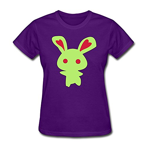 (Vintage Zombie Bunny T Shirt Personalised Custom For Adult Purple)