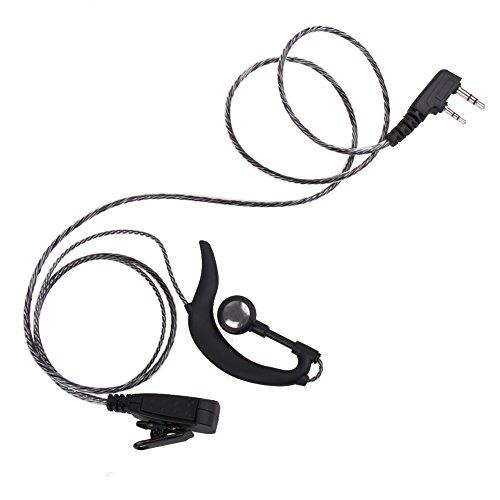 UEB 2 Pin Earpiece Headset PTT MIC for BAOFENG UV5R KENWOOD (QX-90 (Baofeng 888 Acoustic Tube)