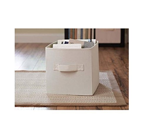 Better Homes and Gardens Collapsible Fabric Storage Cube - Cream (Fabric Emporium)