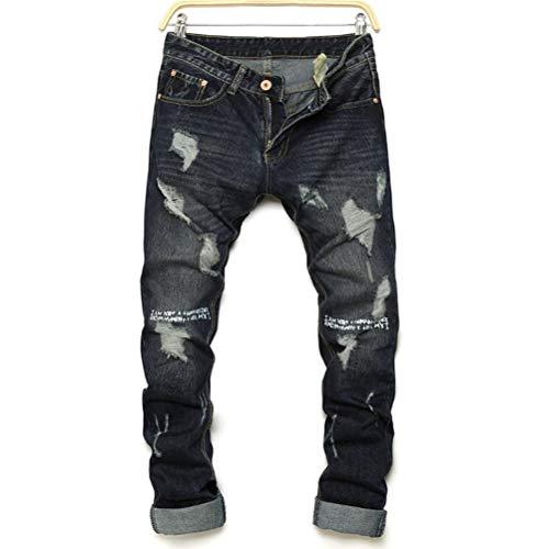 Pantaloni Moda Grotta Maschile Uomo Morbido Jeans E Primavera Abbigliamento Traspirante Stampa Strappare Sudore Libero Tempo Myyw Autunno Accogliente q4SBFWUW