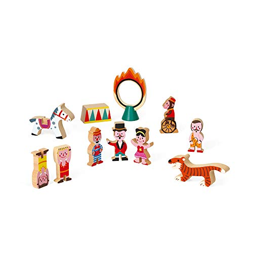Story Circus Animals - Janod Mini Story - Circus Playset