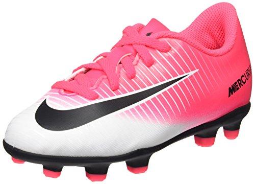 Nike Mercurial Vortex Iii Fg, Botas de Fútbol Unisex Niños Rosa (Racer Pink / Black / White)