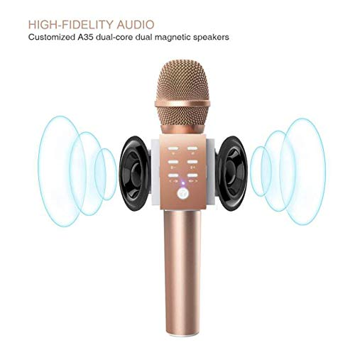 - Wireless Karaoke Microphone, 3-in-1 Portable Microphone Bluetooth 4.2 Speaker Machine Support Computer Mobile Phone Home