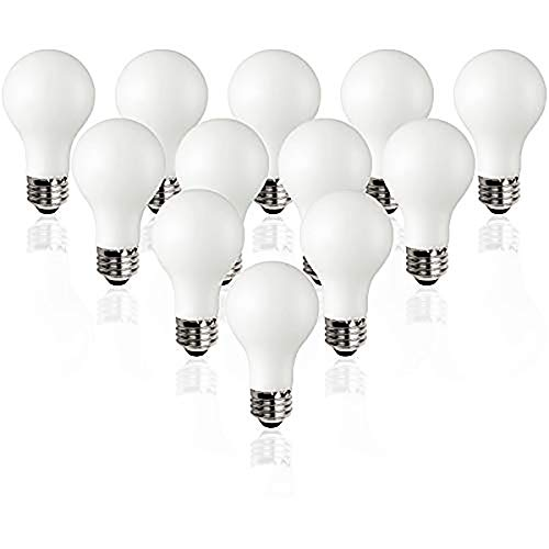 TCP Classic LED 60 Watt A19, 12 Pack, Energy Star, Daylight (5000K) Dimmable Light Bulbs