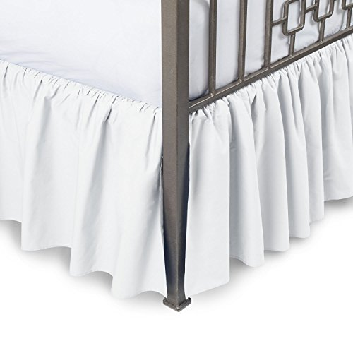 Dust Ruffle Collection - Luxurious Comfort Collection 800TC Pure Cotton Dust Ruffle Bed Skirt 20