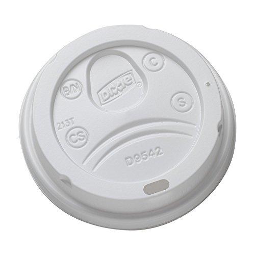 Dixie 9542500DXPK Dome Drink-Thru Lids, Fits 10, 12 & 16oz Paper Hot Cups, White, 100/Pack