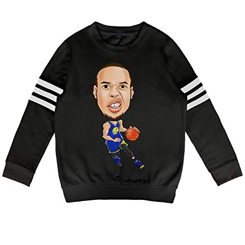 SGFVDFVZD Black Boys Girls Cotton Children's Sweatshirts Clothes Casual Printed Basketball Sports (Ny Knick Tickets)