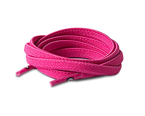 "All Ages Elastic Stretch Shoe Lace Neon Pink - Small: 34"" Little Kid Size 10-1"