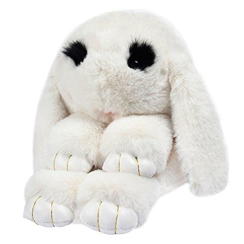 Yodensity Süße Kaninchen Hase Damen mini Rucksack Daypack Schultasche Handtasche Weiß