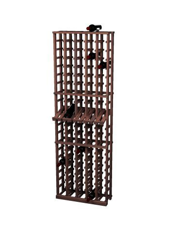 Wine Cellar Innovations Rustic Pine Wine Rack with Display Row for 100 Wine Bottles, 5 Column, Dark Walnut Stained by Wine Cellar Innovation