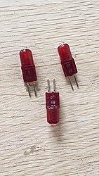 JKLcom 10W Halogen Bulbs G4 10W 12V Halogen Light Lamps G4 Base Halogen 10W 12 Volt T3 JC Lamp Halogen Bulbs Infrared Lights for Massage Chair Hair Dryer,G4 Bi-Pin Base,Low Voltage 12V, Red,10 Pack