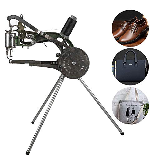 IRONWALLS Shoe Repair Mending Machine Hand Manual Cotton Nylon Line Sewing Machine Cobbler Machine for Shoes Bags Cloth Leather Goods (Machine Sewing Cranked Hand)