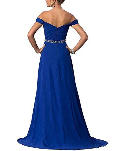 Schlitze Ausschnitt Cocktail Lang Abendkleider A Kleider Festkleider Line Red Brautjungfernkleider mit V gBwvqnAxq