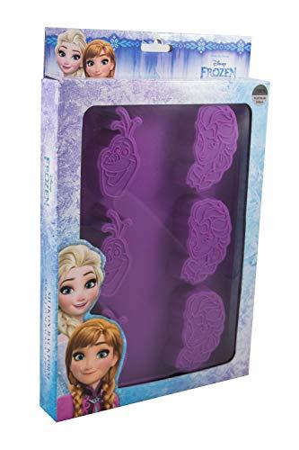 P:os 28248 – siliconen bakvorm, 6-delig, Disney Frozen Elsa en Olaf, ca. 28 x 20 cm, 100% levensmiddelechte platina…