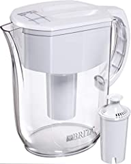 Drink healthier, great tasting tap water with this BPA free Brita 10 cup water pitcher. With the Advanced filter technology, Brita cuts the taste and odor of chlorine to deliver great tasting water, and is certified to reduce copper, cadmium ...