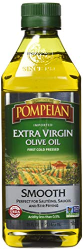 Pompeian Smooth Extra Virgin Olive Oil, 16 Ounce (Evoo Olive Oil)