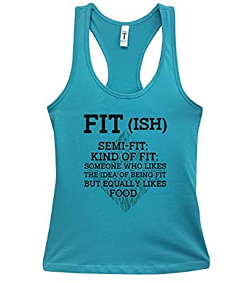 "Funny Womens Workout Tank Tops ""Fit-ish"" - Little Royaltee Gym Boutique Shirts"