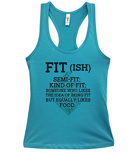 Funny Womens Workout Tank Tops Fit-ish - Little Royaltee Gym Boutique Shirts
