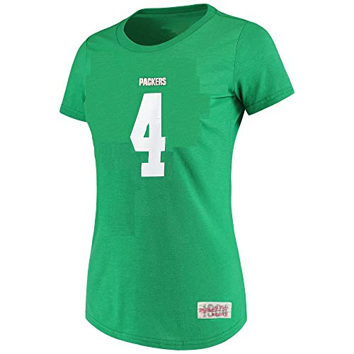 - Mitchell & Ness Brett Favre Green Bay Packers #4 Women's Player Name & Number T-Shirt (X-Large)