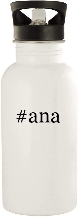 #ana - 20oz Hashtag Stainless Steel Water Bottle, White