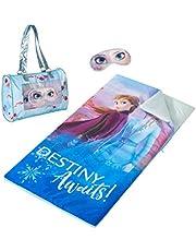 حقيبة نوم من ديزني فروزن 2 مع حقيبة نوم وقناع عيون إضافي، 46 بوصة × 26 بوصة