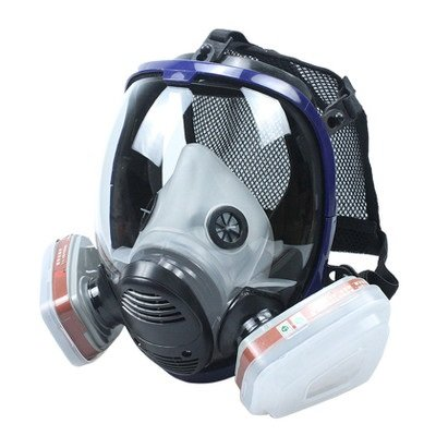 Organic Vapor Full Face Respirator With Visor Protection For Paint, chemicals, polish, pesticides protection