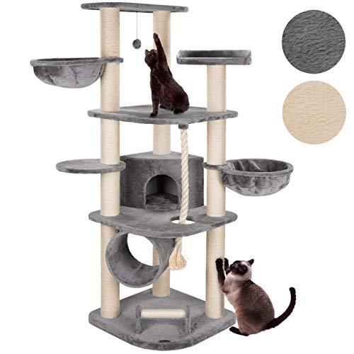 happypet® Kratzbaum für Katzen groß 181 cm hoch CAT021 Kletterbaum Katzenbaum, stabile extra dicke Sisal-Säulen ca. 11cm…