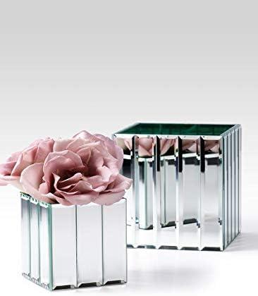 Serene Spaces Living Gatsby Mirror Strip Cube Vase