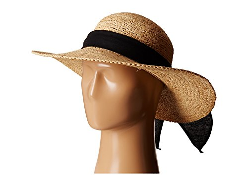 SCALA Women's Big Brim Raffia Hat, Natural, One Size