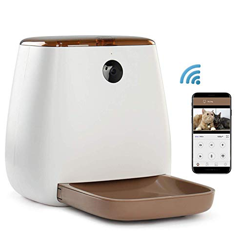 Love XLongA Pets Automatic Pet Feeder Food Dispenser for Dogs & Cats Meals Smart Feeder, 1080P HD WiFi Pet Camera with Night Vision for Pet Viewing,Compatible Way Audio Communication (Cabinet Vision Software)