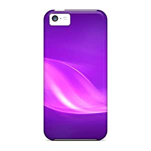Snap-on Case Designed For Iphone 5c- Purple Swirls