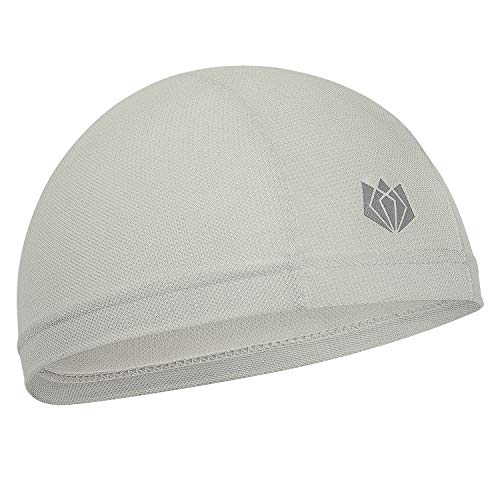 Wicking Helmet Liner Cycling Skull Cap with UV Protection & Mesh Cooling for Women & Man Gray ()