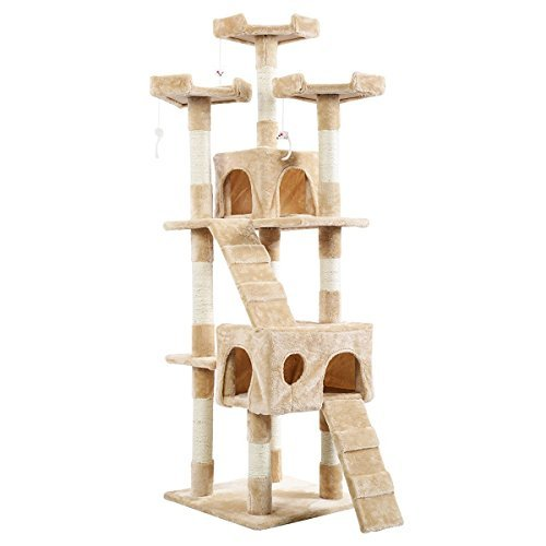 66″ Cat Kitty Tree Tower Condo Furniture Play Pet Home Beige 41svdMVKiLL