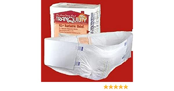 Amazon.com: Tranquility® Bariatric Disposable Briefs - HI-RISE CASE/32: Health & Personal Care
