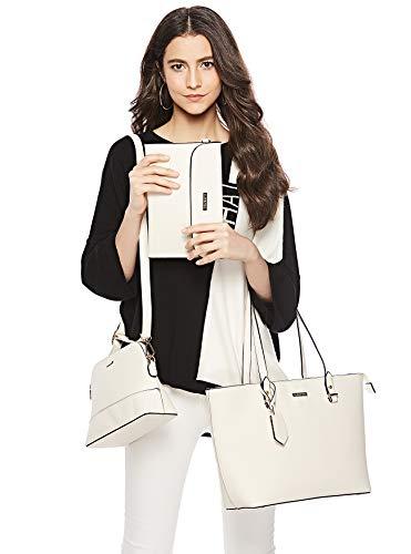 ELIMPAUL Women Fashion Handbags Tote Bag Shoulder Bag Top Handle Satchel Purse Set 4pcs (Black-3) by ELIMPAUL (Image #6)