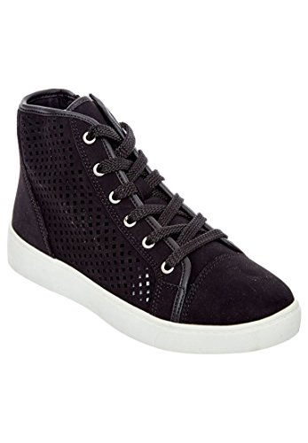 Comfortview Womens Wide Briella Sneakers Zwart